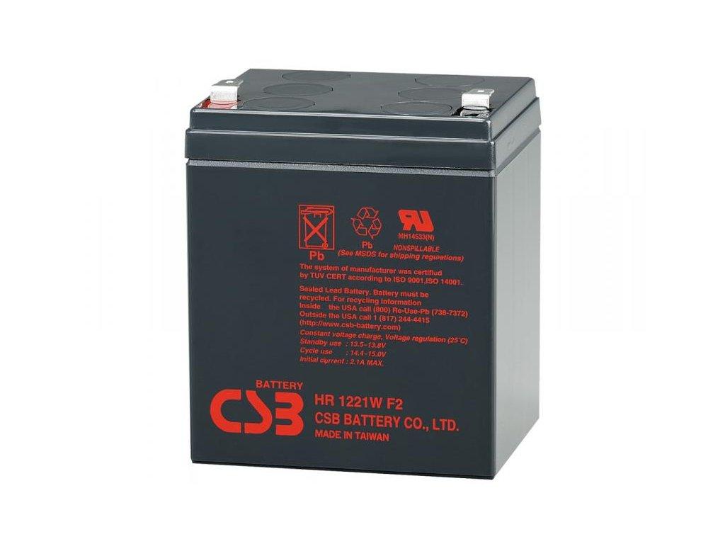 CSB 12V 5,1Ah olověný akumulátor HighRate F2 (HR1221WF2)