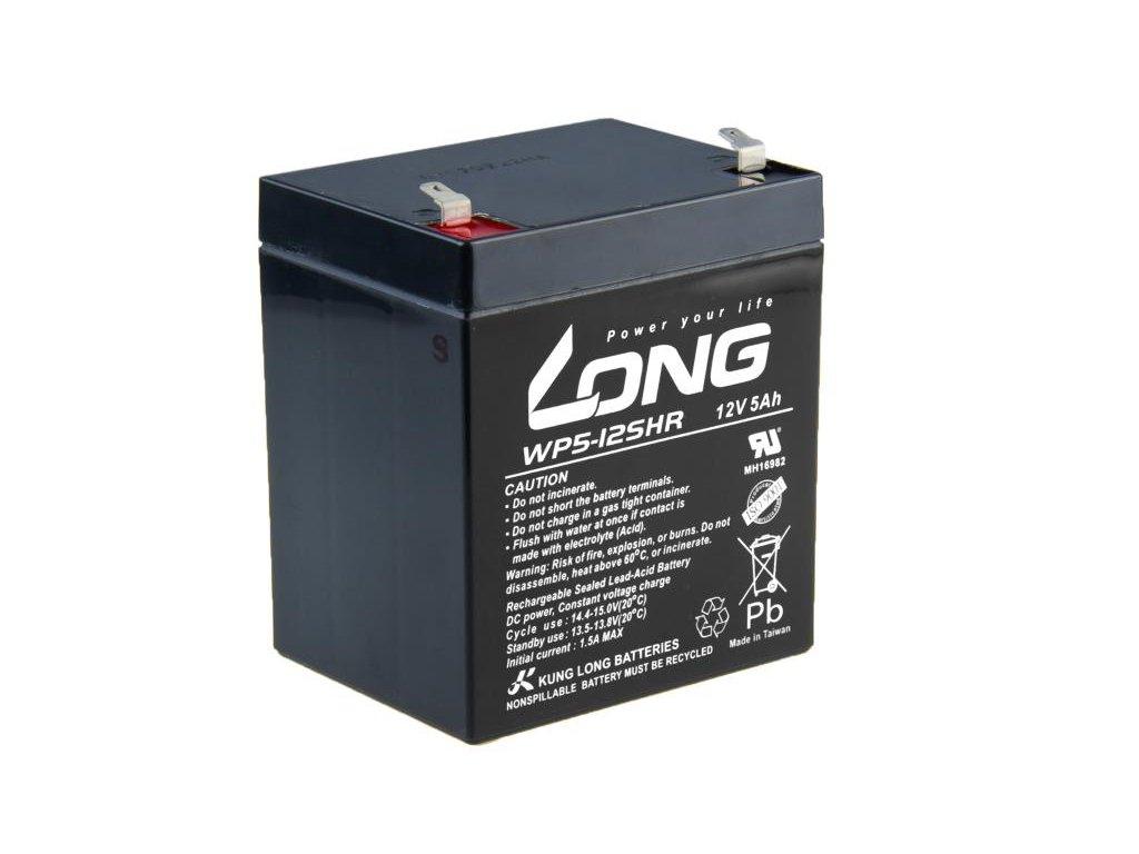 LONG baterie 12V 5Ah F1 HighRate (WP5-12SHR)