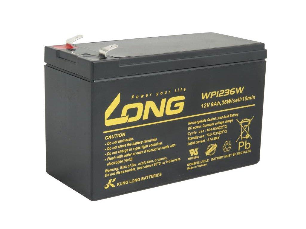 LONG baterie 12V 9Ah F2 HighRate (WP1236W)