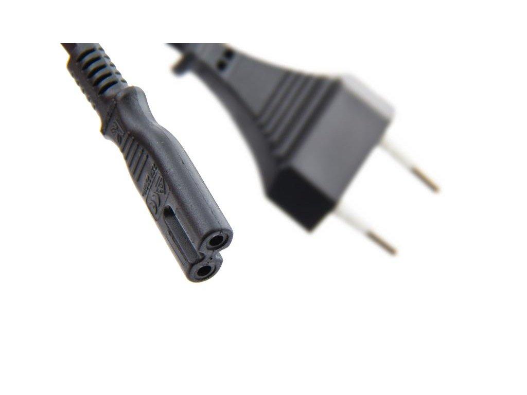 Napájecí kabel síťový dvoupinový 1,8m