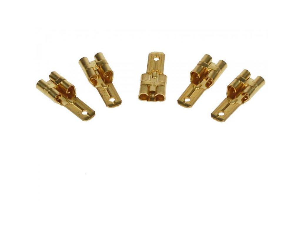 Redukce Faston 6,3mm na Faston 4,7mm (pár, 2ks)