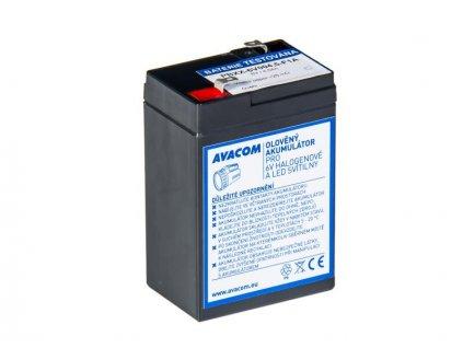 AVACOM baterie 6V 4,5Ah F1 - pro svítilny