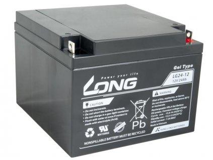 LONG baterie 12V 24Ah F3 DeepCycle GEL 10 let (LG24-12)
