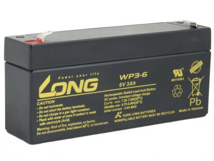 LONG baterie 6V 3Ah F1 (WP3-6)