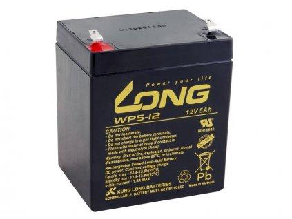 Long 12V 5Ah olověný akumulátor F1 (WP5-12 F1)