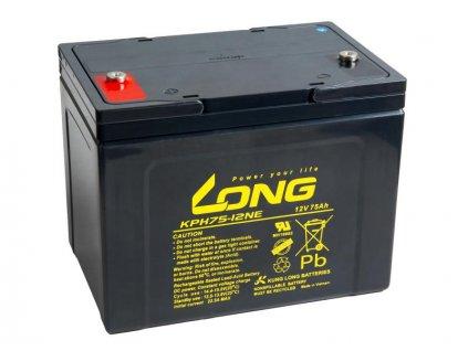Long 12V 75Ah olověný akumulátor Deep Cycle AGM M6 (KPH75-12NE)