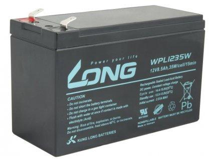 LONG baterie 12V 8,5Ah F2 HighRate LongLife 9 let (WPL1235W)
