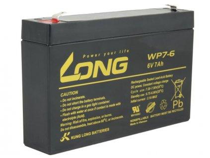 LONG baterie 6V 7Ah F1 (WP7-6)