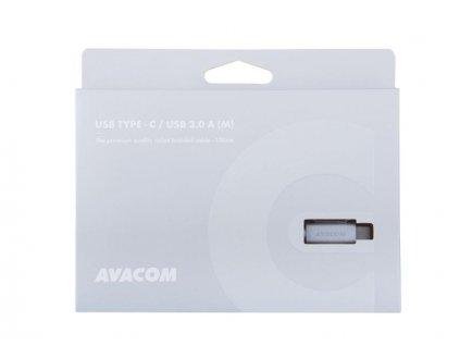 AVACOM TPC-100S kabel USB - USB Type-C, 100cm, stříbrná