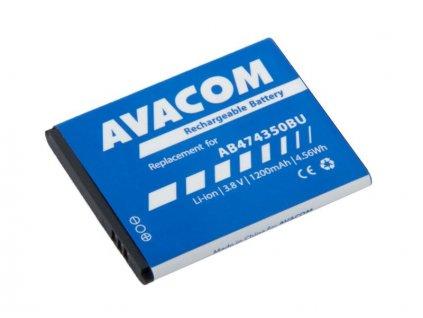 Baterie do mobilu Samsung G810, i8510 Li-Ion 3,7V 1200mAh (náhrada AB474350BU)