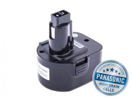 BLACK & DECKER A9252  Ni-Mh 12V 3000mAh, články PANASONIC