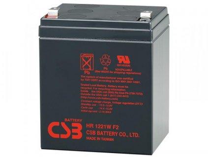 CSB baterie 12V 5,1Ah F2 HighRate (HR 1221W)