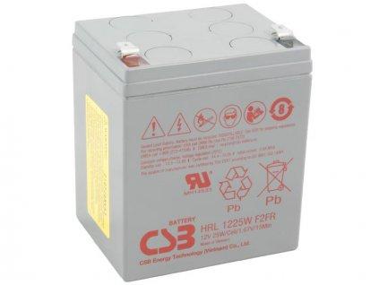 CSB 12V 5,5Ah olověný akumulátor HighRate (8 let) F2 (HRL1223WF2)