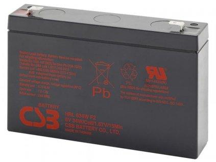 CSB 6V 9Ah olověný akumulátor HighRate F2  (8-10 let) (HRL634WF2)