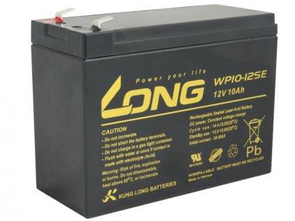 LONG baterie 12V 10Ah F2 DeepCycle (WP10-12SE)