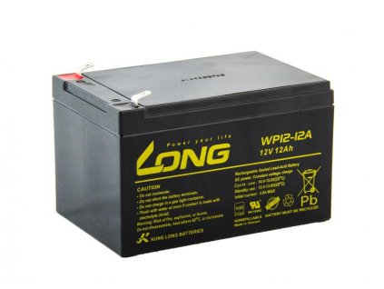 Long 12V 12Ah olověný akumulátor F2 (WP12-12A)