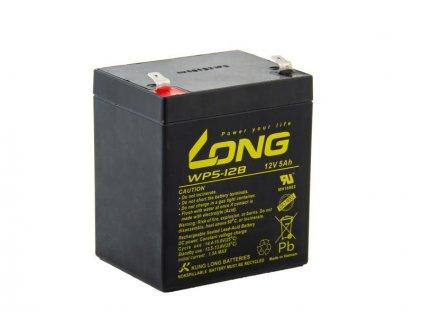 Long 12V 5Ah olověný akumulátor F2 (WP5-12B F2)