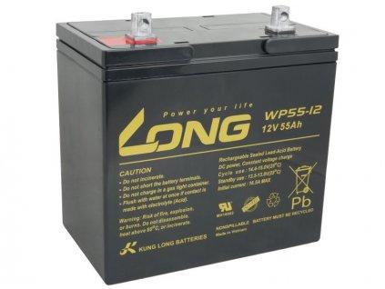 Long 12V 55Ah olověný akumulátor F15 (WP55-12)