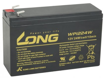 Long 12V 6Ah olověný akumulátor HighRate F2 (WP1224W)