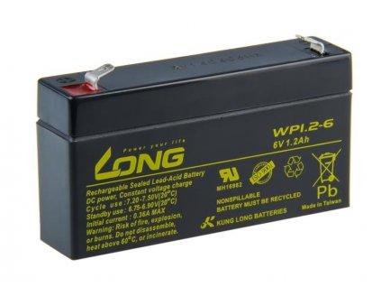 Long 6V 1,2Ah olověný akumulátor F1 (WP1,2-6)