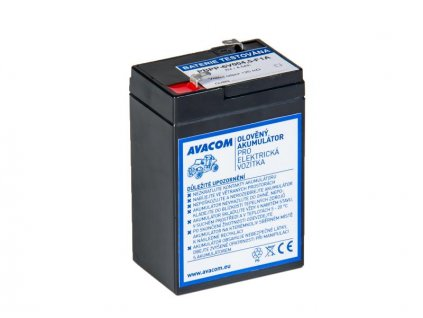 Náhradní baterie (olověný akumulátor) 6V 4,5Ah do vozítka Peg Pérego F1