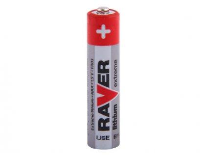 Nenabíjecí baterie AAA Raver Lithium 1ks Bulk