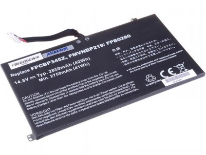 Fujitsu Siemens LifeBook UH572, Li-Pol 14,8V 2850mAh/42Wh