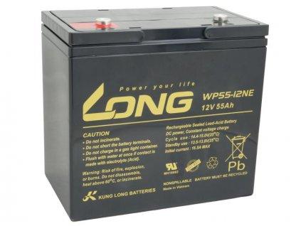 Long 12V 55Ah olověný akumulátor DeepCycle AGM M6 (WP55-12NE)