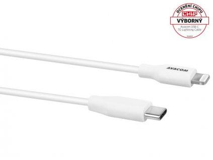 AVACOM MFIC-120W kabel USB-C - Lightning, MFi certifikace, 120cm, bílá