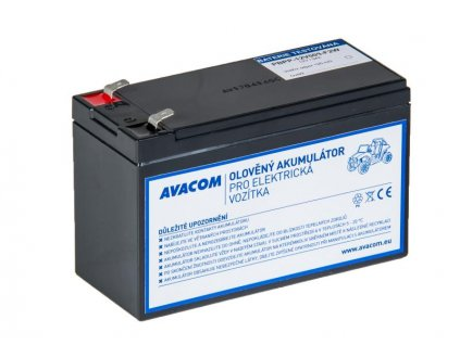 Náhradní baterie (olověný akumulátor) 12V 9Ah F2 typu HR do vozítka Peg Pérego