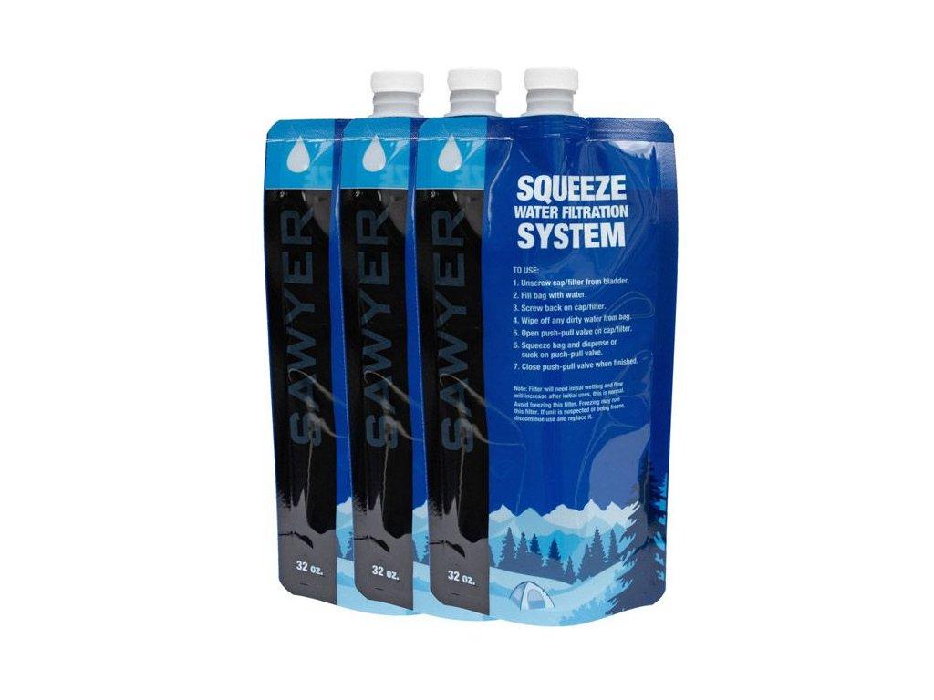 SAWYER Skladacia fľaša 1l - sada 3 ks