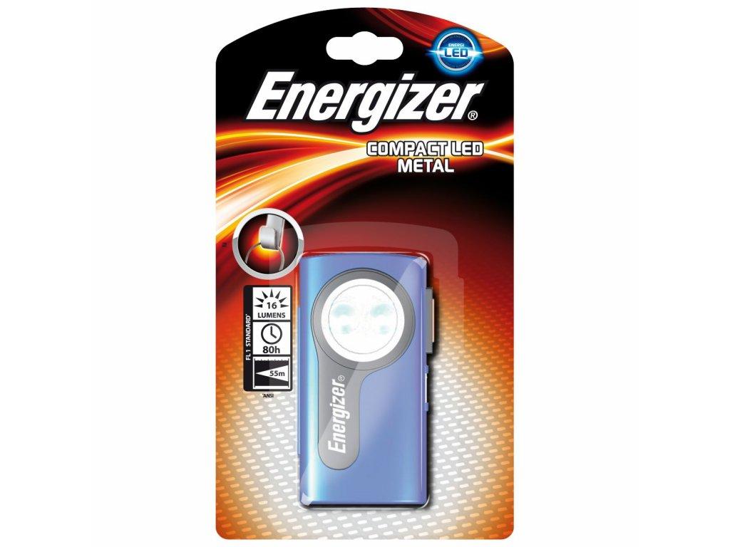 Ručné svietidlo Energizer Compact LED Metal 3AA