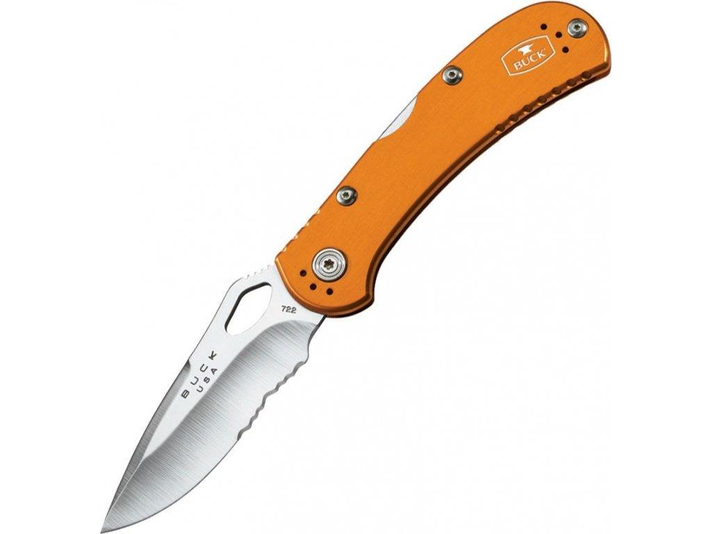 Buck SpitFire Lockback Knife Orange Serrated