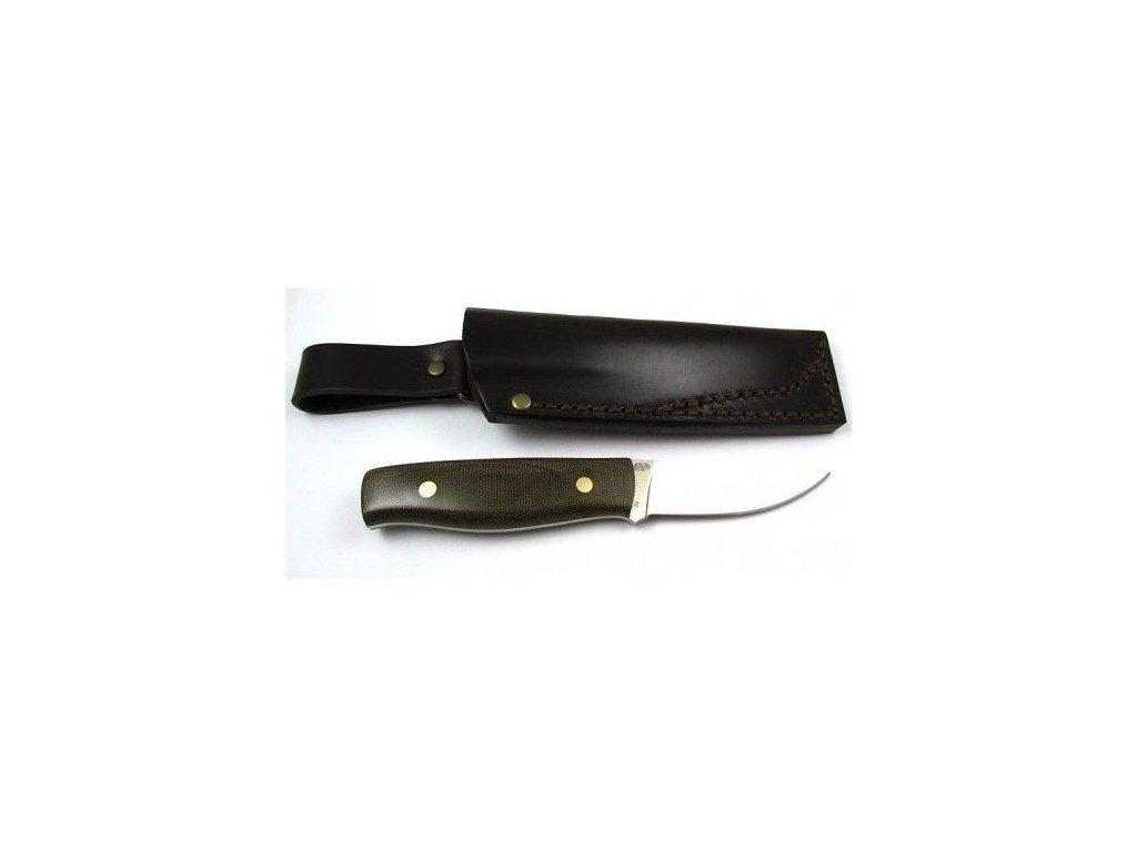 EnZo Elver 85 D2 F Knife/Green Canvas Micarta