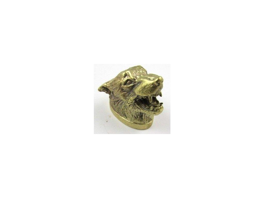 Cap Wolf Brass