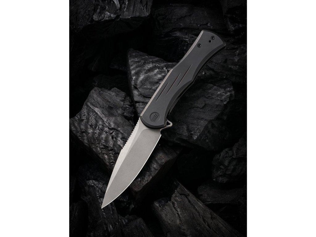 we knife primoris cpm 20cv stahl stonewashed titan schwarz
