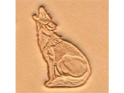 3D Stamp Howling Coyote