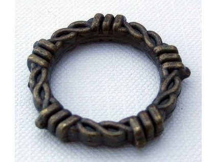O Rings Antique- 20mm/emboss plated