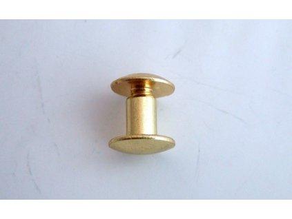 Chicago rivets Brass -7 mm/10