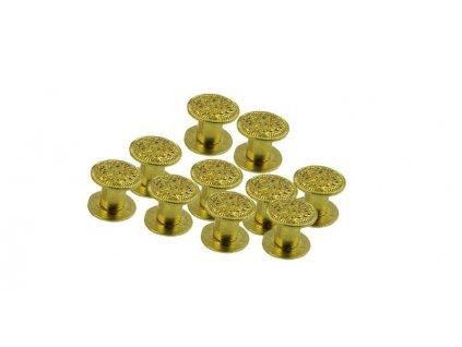 Concho Rivets Gold 10x6 / 10 ks