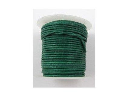 Leather stripe round Turqouise 2mm