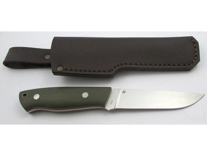 EnZo Trapper 115 12C27/F Knife/Olive G10