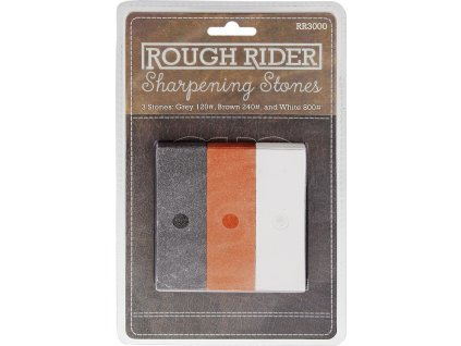 Rough Ryder set troch brúsnych kameňov 120,240,800 Grit RR3000