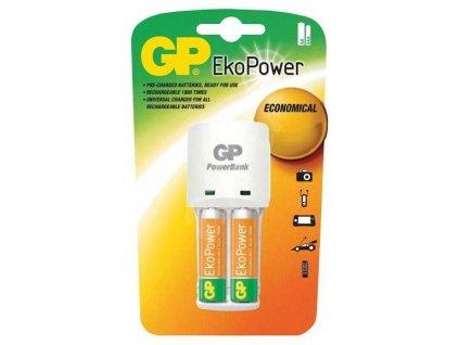 Nabíjačka GP Ekopower + 2x GP EkoPower AAA KB02