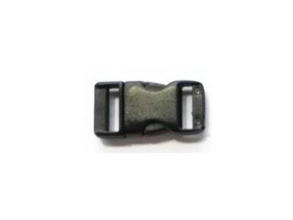Spona trojzubec (11 mm) - farba čierna
