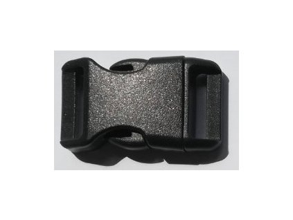 Spona trojzubec (20 mm) - farba čierna
