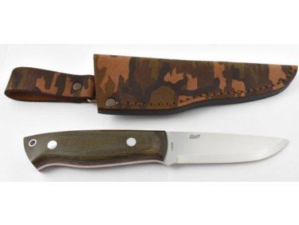Nôž BRISA Trapper 95 N690Co/Sc Knife/ Green Canvas Micarta / Camo