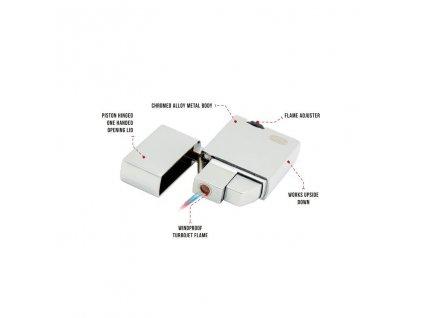 Vetruodolný zapalovač True Utility Classic Firewire TU460