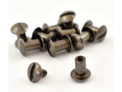 Chicago rivets Gun Metal 6,5x10mm /10pcs