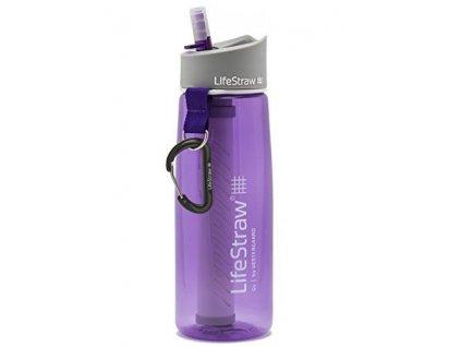 Fľaša na vodu s filtrom LIFESTRAW GO2 STAGE fialová